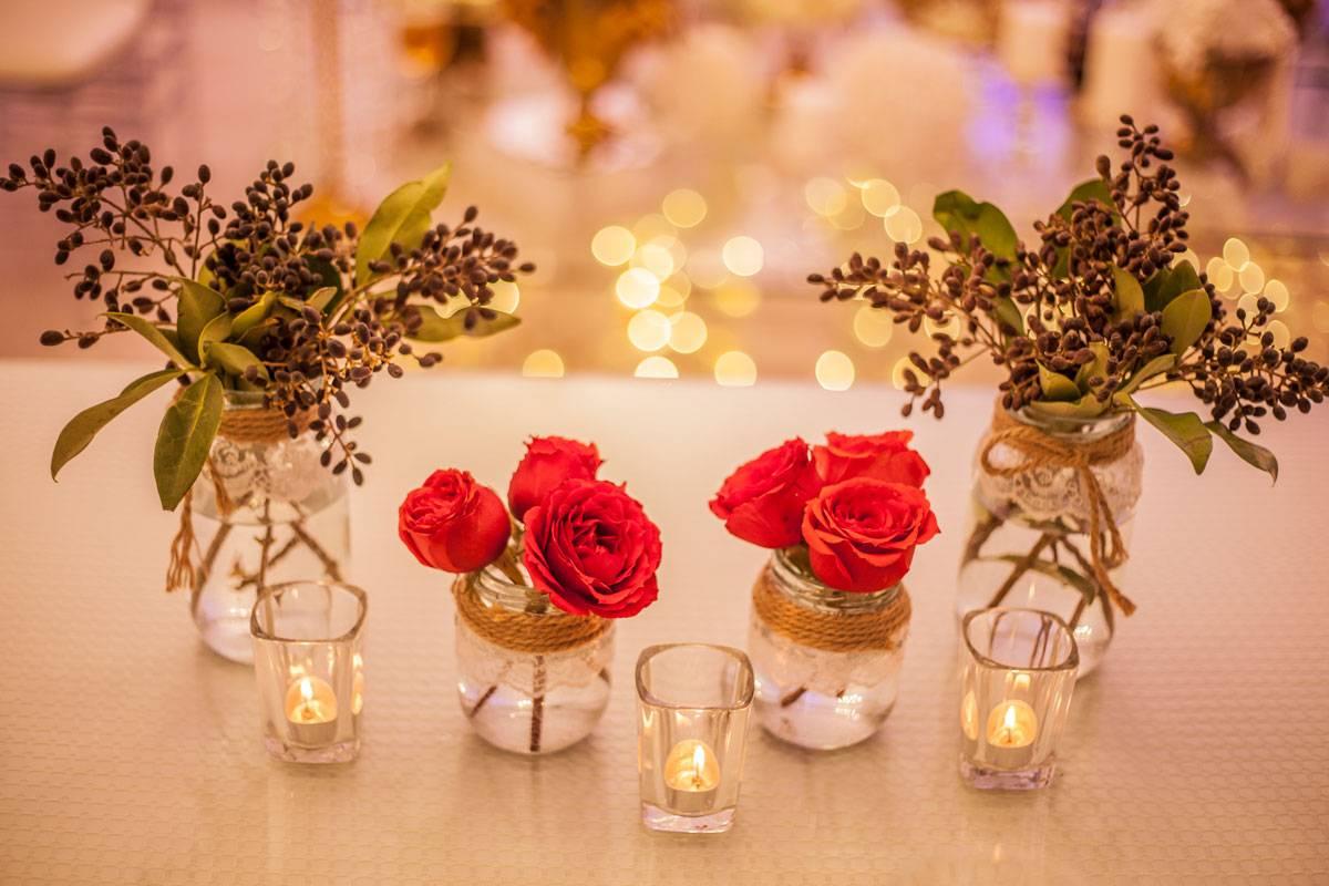 گالری تصاویر گل آرایی و شمع آرایی